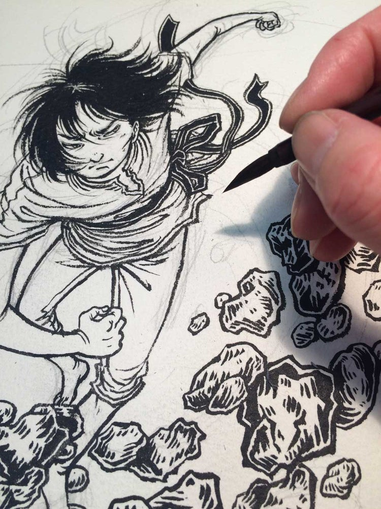 Image of 2 MONTH FREE TRIAL: online inking class + SKILLSHARE membership