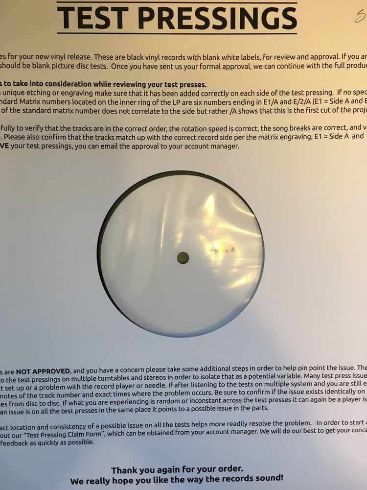 Image of Arcadian Child - Afterglow  Rare Original TEST PRESS LP