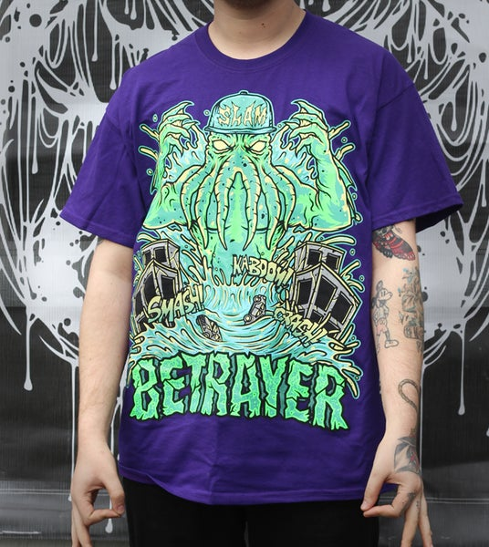 Image of Cthulhu Slam Shirt (Purple)