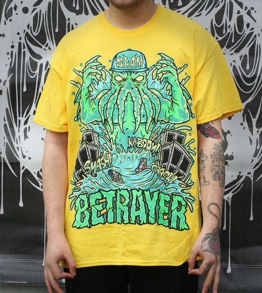 Image of Cthulhu Slam Shirt (Yellow)