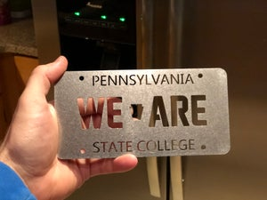 Image of Magnetic Art -- WE ARE License Plate