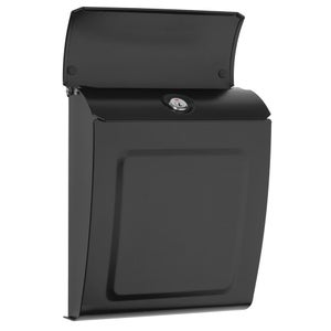 Image of Modern Style Black Locking or Non Locking Wall Mounted Mailbox - by TheBusBox Choose Your Color