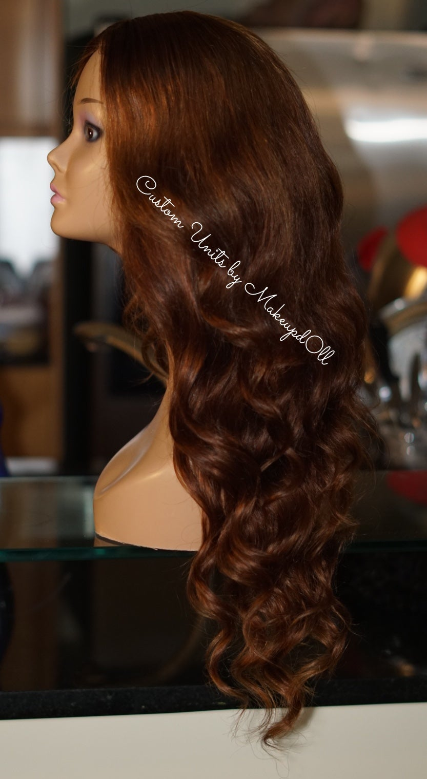 "Image of ""Golden Brown"" Brazilian Body Wave 24"" Custom Lace Closure Wig!"