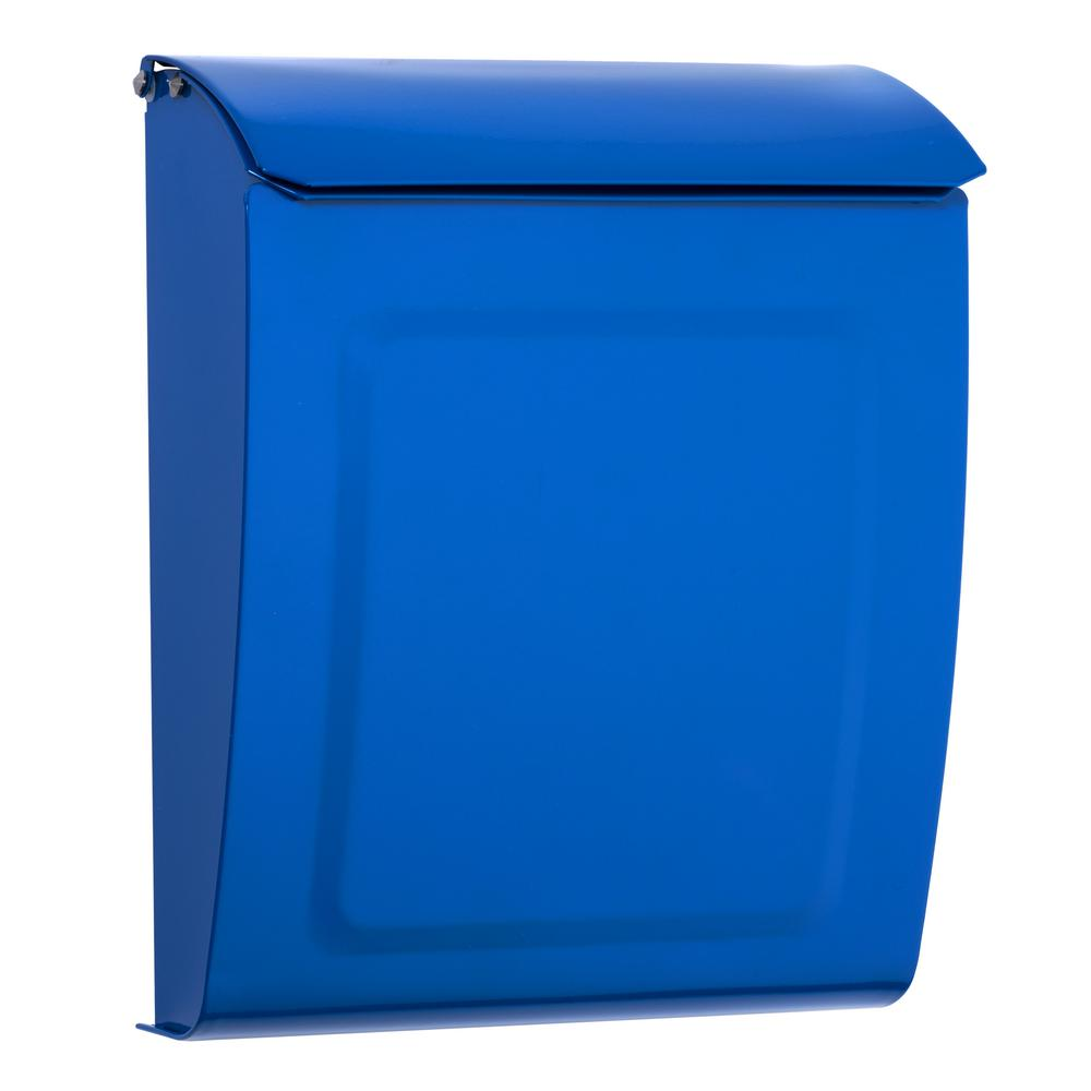 Image of Brilliant Blue Painted Locking or NonLocking Mailbox by TheBusBox - Choose Your Color Vintage Design