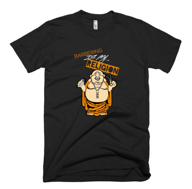 """Image of """"Barbering Is My Religion"""" T-Shirt!"""