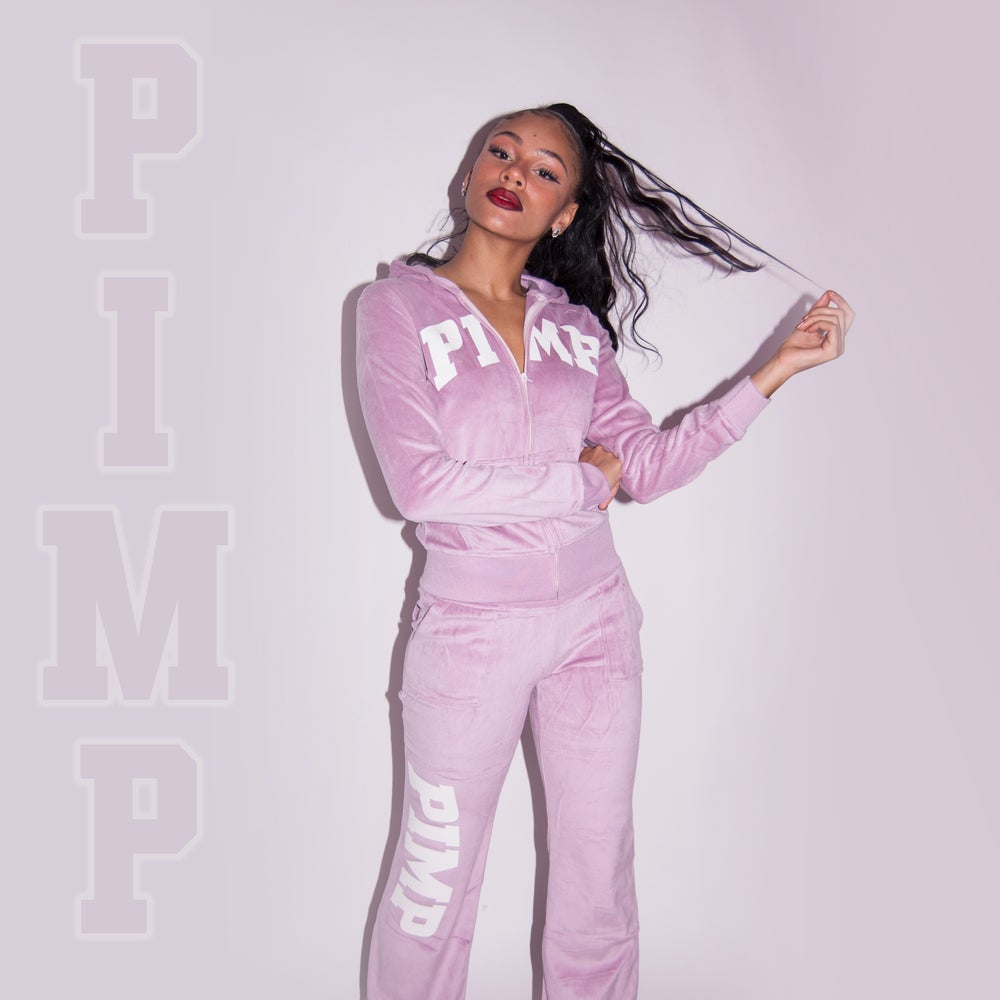 Image of Pimp purple track suit