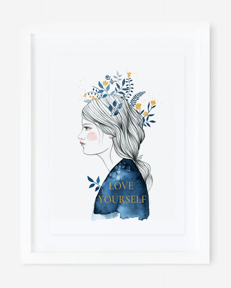Image of Print A3 Serigrafía oro Love Yourself