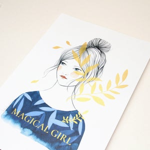 Image of Print A3 Serigrafía oro Magical Girl