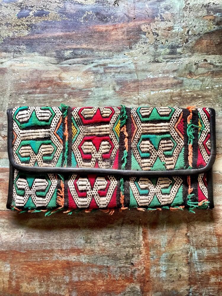 Image of Moroccan leather kilim bag #5