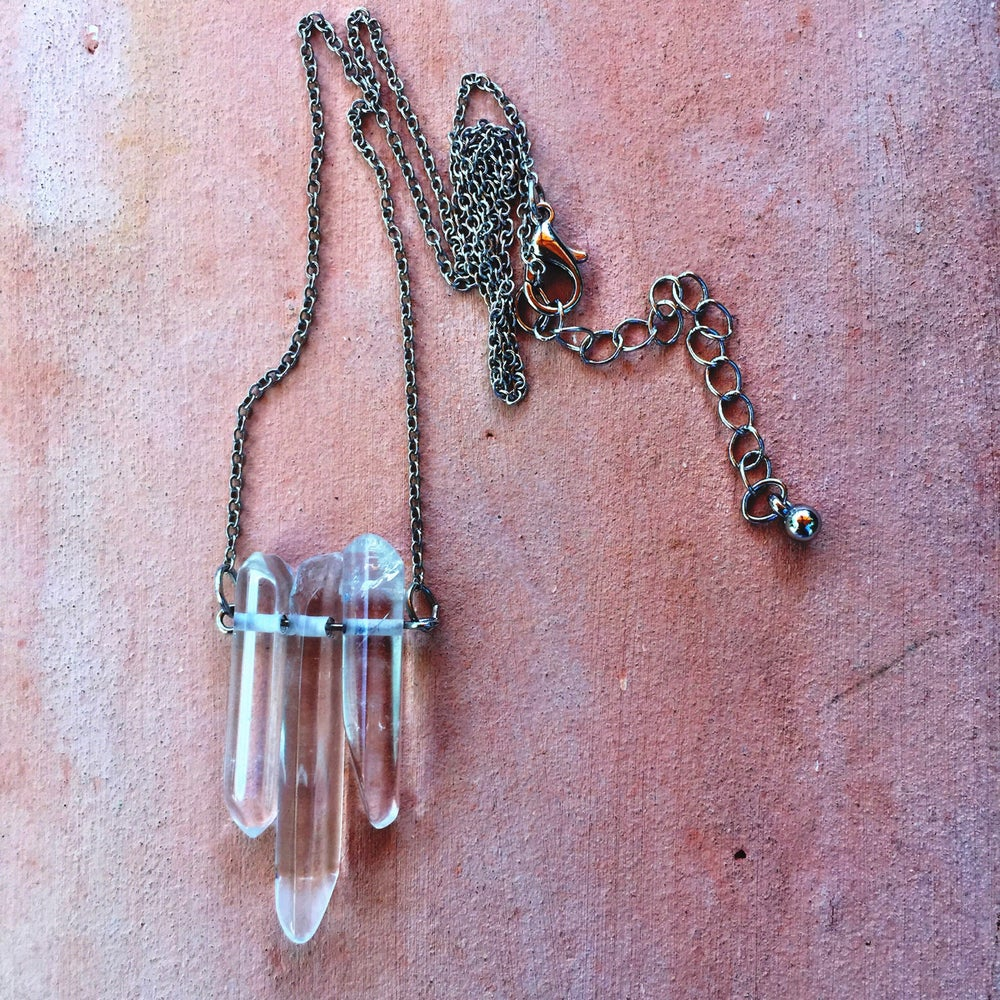 Image of Raw Quartz necklace