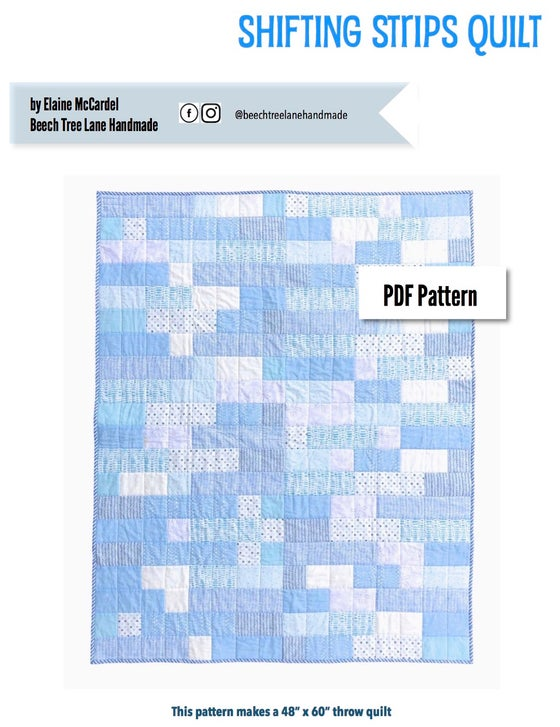 Image of Shifting Strips Quilt PDF Pattern