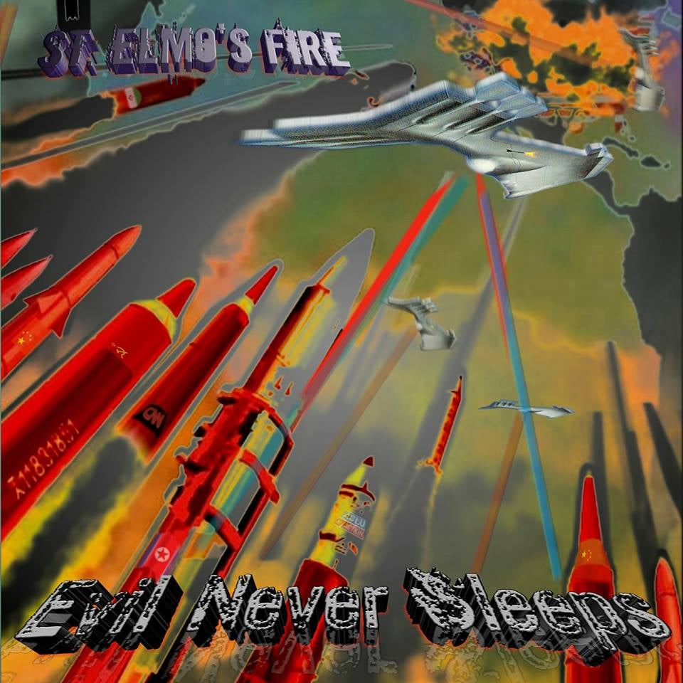 "Image of St. Elmo's Fire ""Evil Never Sleeps"" 2018 CD (German Import)"