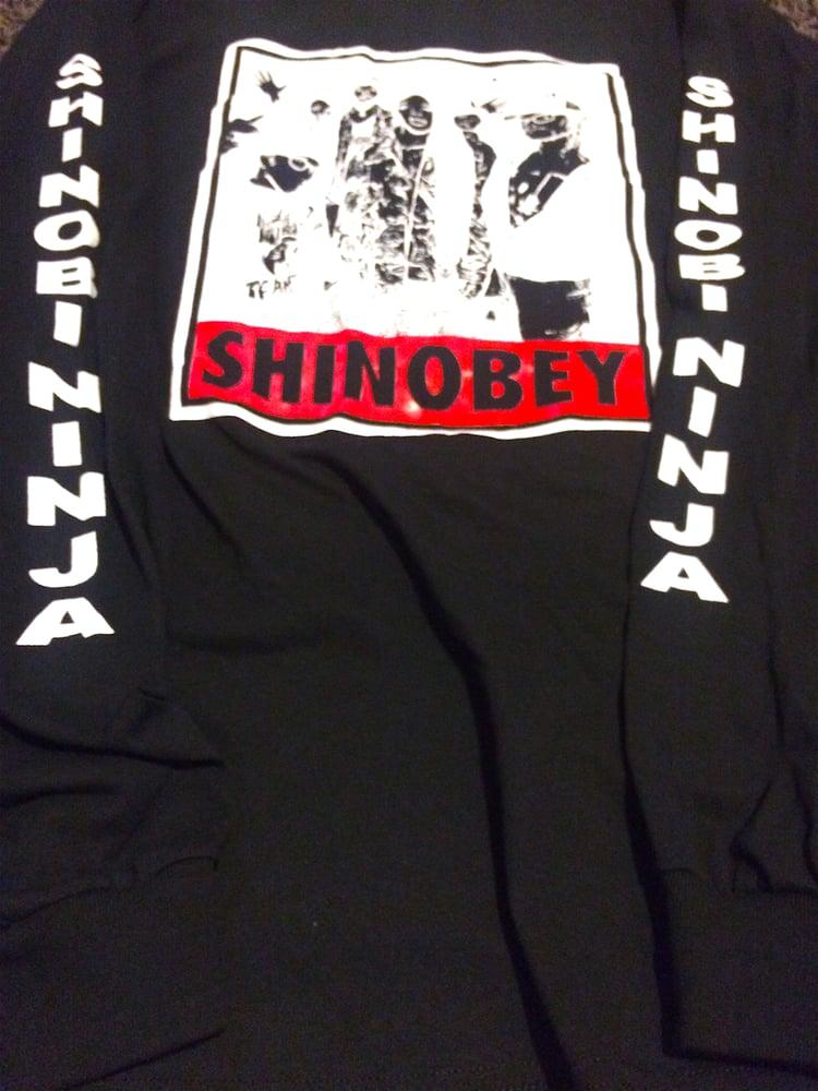 Image of Black Long Sleeve Shinobey Shirt