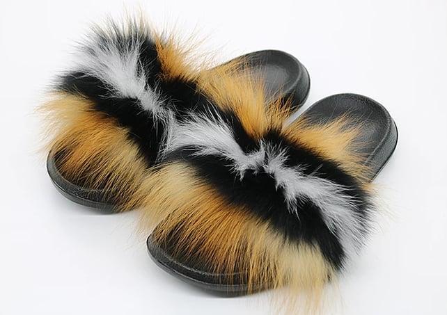 Image of fox fur slides