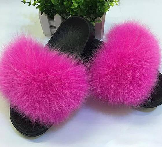 Image of solid fox fur slides