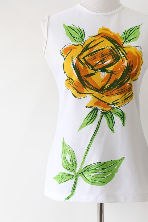 Image of SOLD Yellow Rose Vintage Blouse