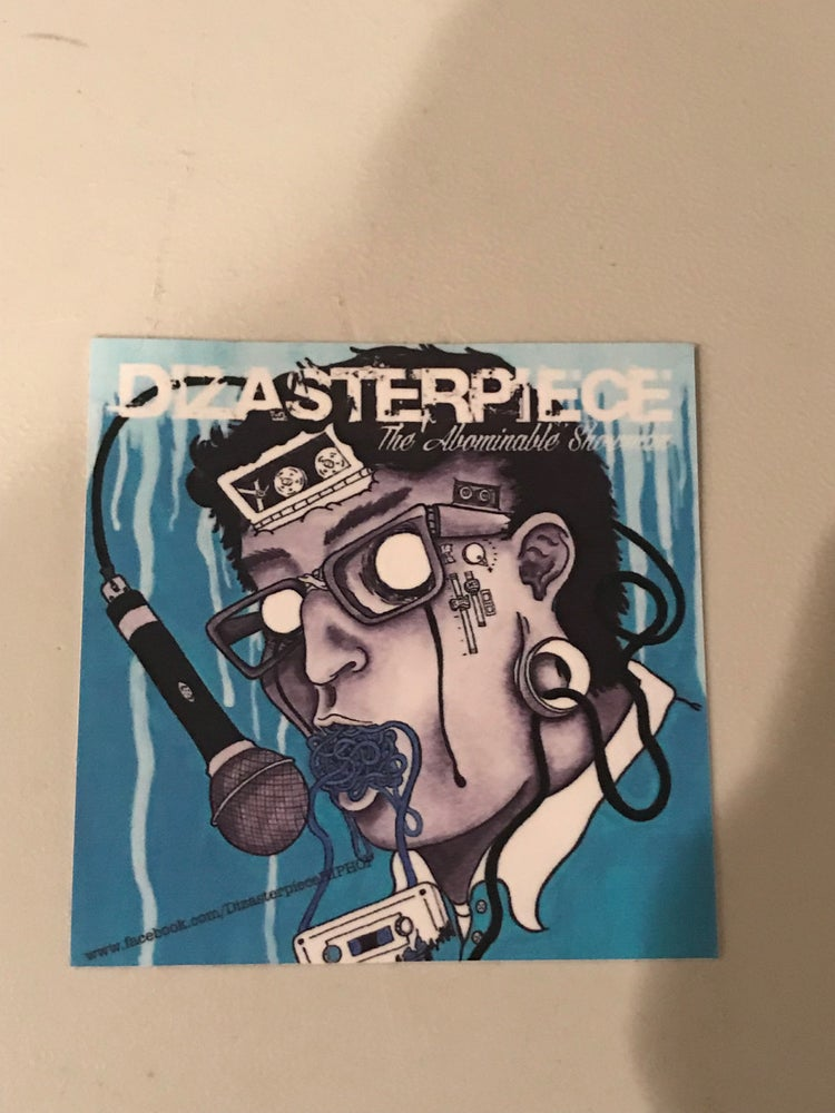 Image of DIZASTERPIECE- THE ABOMINABLE SHOWMAN - ALBUM ARTWORK STICKER