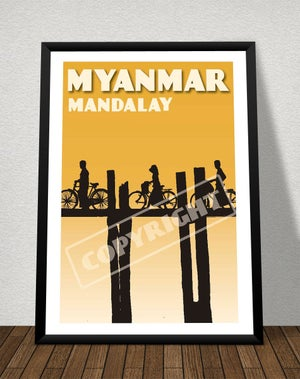 Image of Vintage poster Myanmar #Mandalay