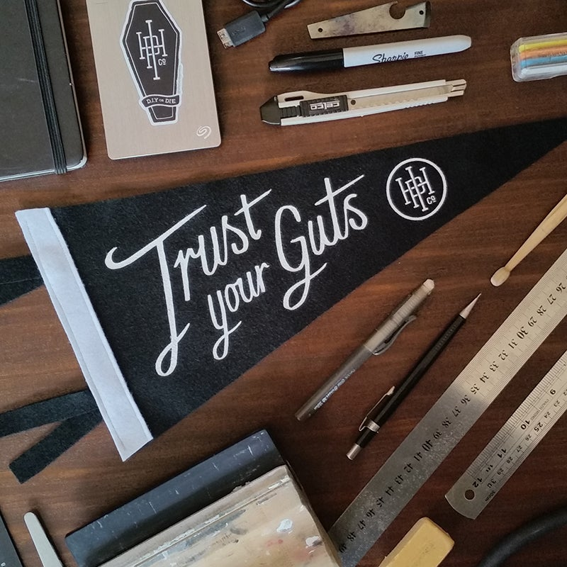 Image of Trust Your Guts Pennant