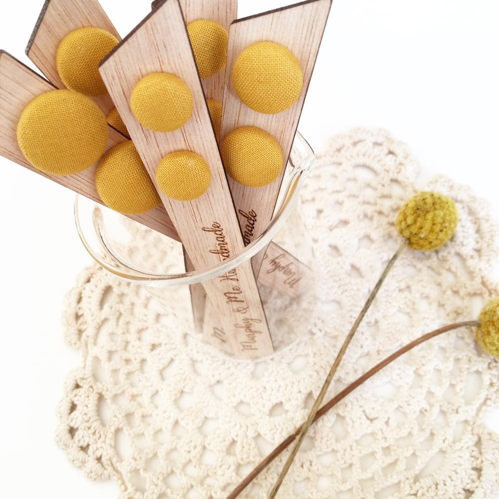 Image of 'Mustard Mood' Stud Earrings