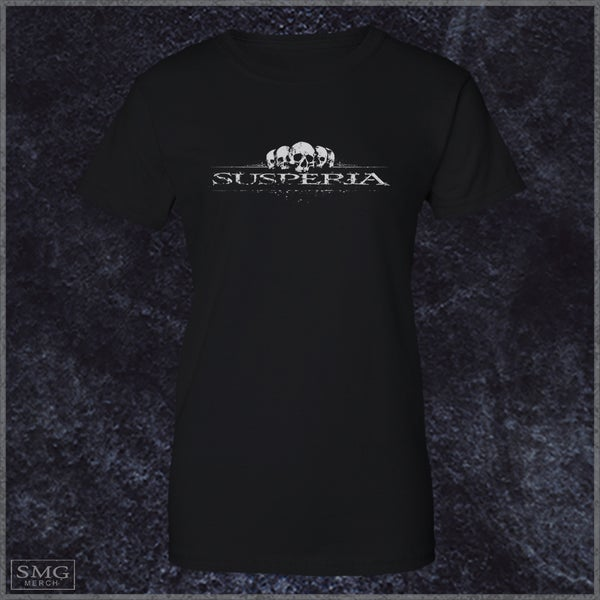 Image of Susperia - Girlie Scull-logo T-Shirt (Vintage look)