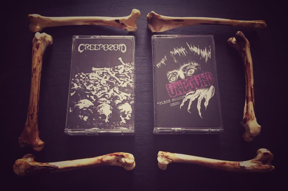 Image of CREEPOZOID - Demo 1994 / UNBOUND - Flesh Burns