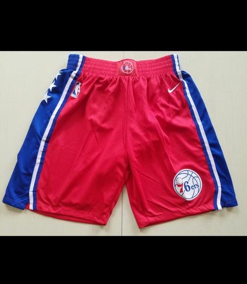 """Image of Philadelphia 76ers """"swingman shorts"""""""
