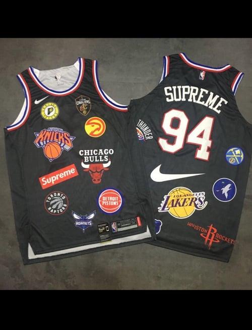 Image of Supreme NIke /NBA team jerseys