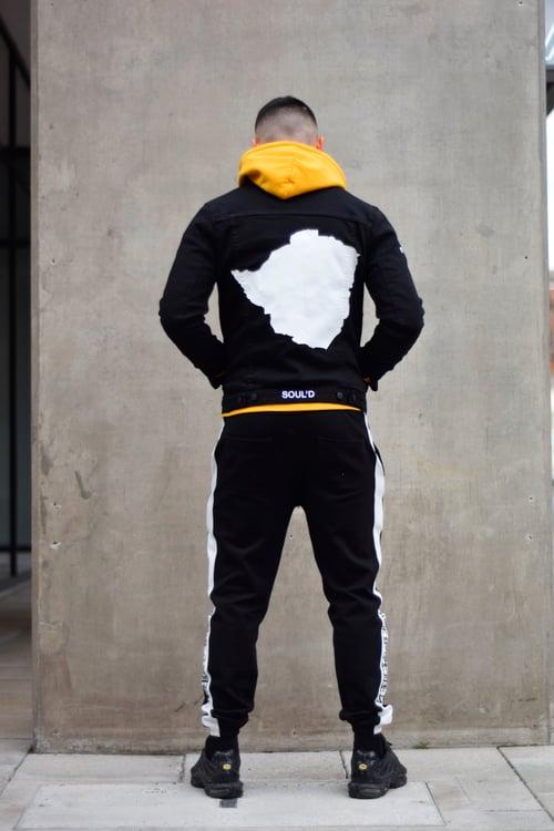 Image of Black Soul'd Dreams Denim Jacket (M)