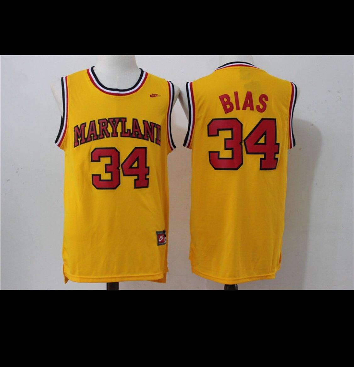newest d1b45 3f7da Len bias Maryland jersey
