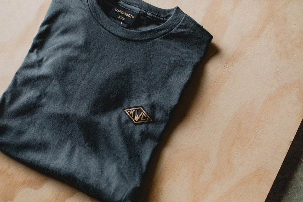 Image of KWC Diamond Tee in Asphalt Grey