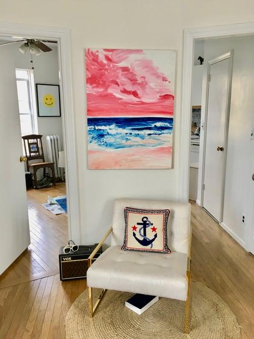 "Image of Pink Montauk, 30"" x 40"" painting"