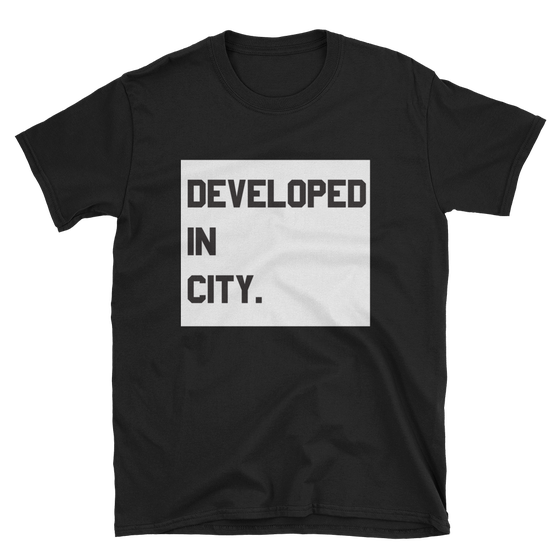 Image of Boxed-In Developed Tee (Custom city/state)
