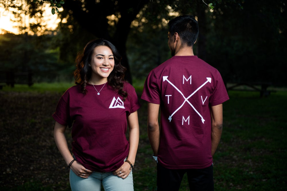 Image of MVMT Tee (Maroon) *Front & Back*