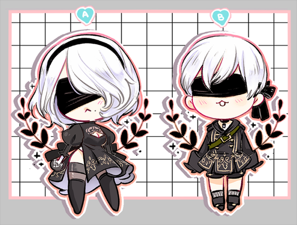 "Image of Neir Automata 2"" Charms"