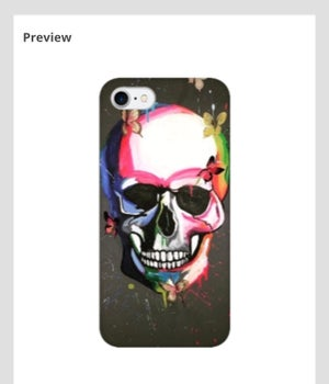 Image of Butterfly Skull - Phone case