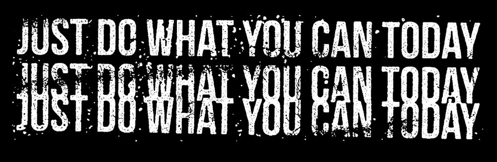 """Image of """"Just Do What You Can Today"""" Bumper Sticker"""