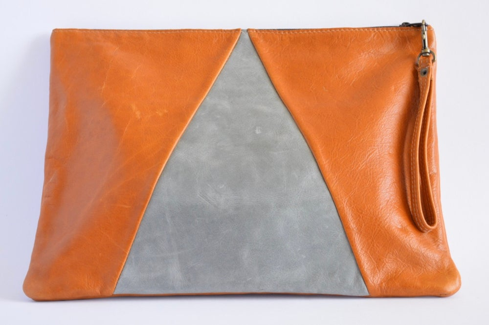 Image of Desert Oversized Leather Clutch Purse