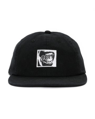 Image of OBEY - QUIET 6 PANEL HAT (BLACK)
