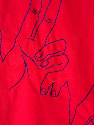 Image of Hands off red/blue