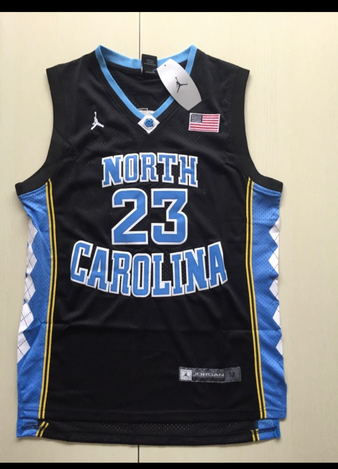 wholesale dealer b5b3b a21d6 Micheal Jordan Unc Black jersey