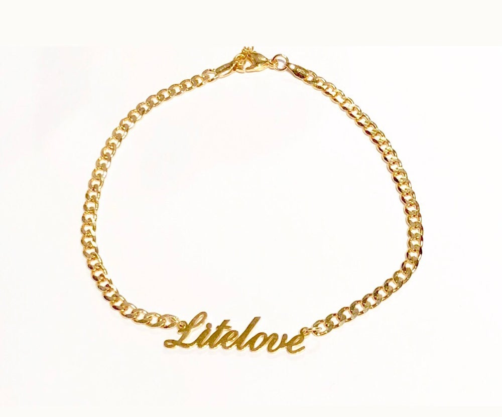 name overlay fits anklet personalized ankle bracelet rakuten adjustable nikgold gold with product shop