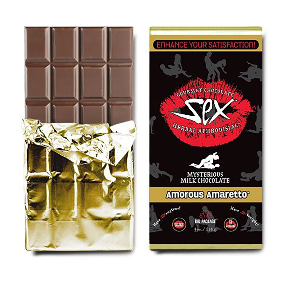 Image of Gourmet Aphrodisiac Chocolate Bar-Amaretto/Milk Chocolate