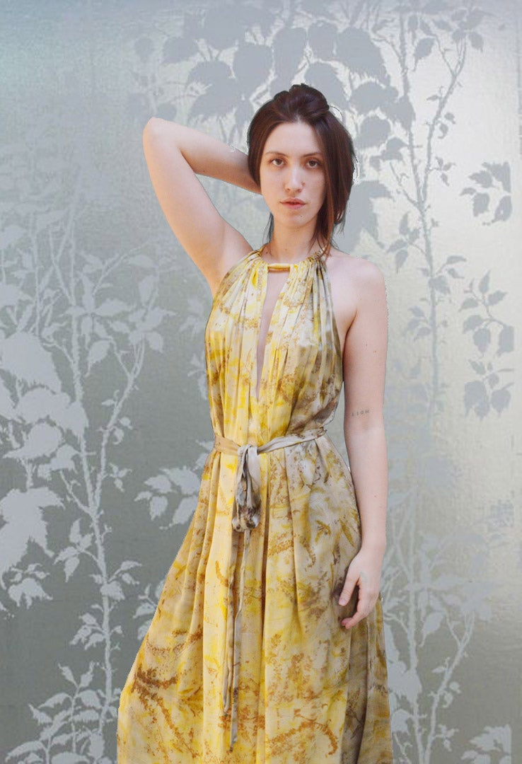 Image of end of summer eco print dress