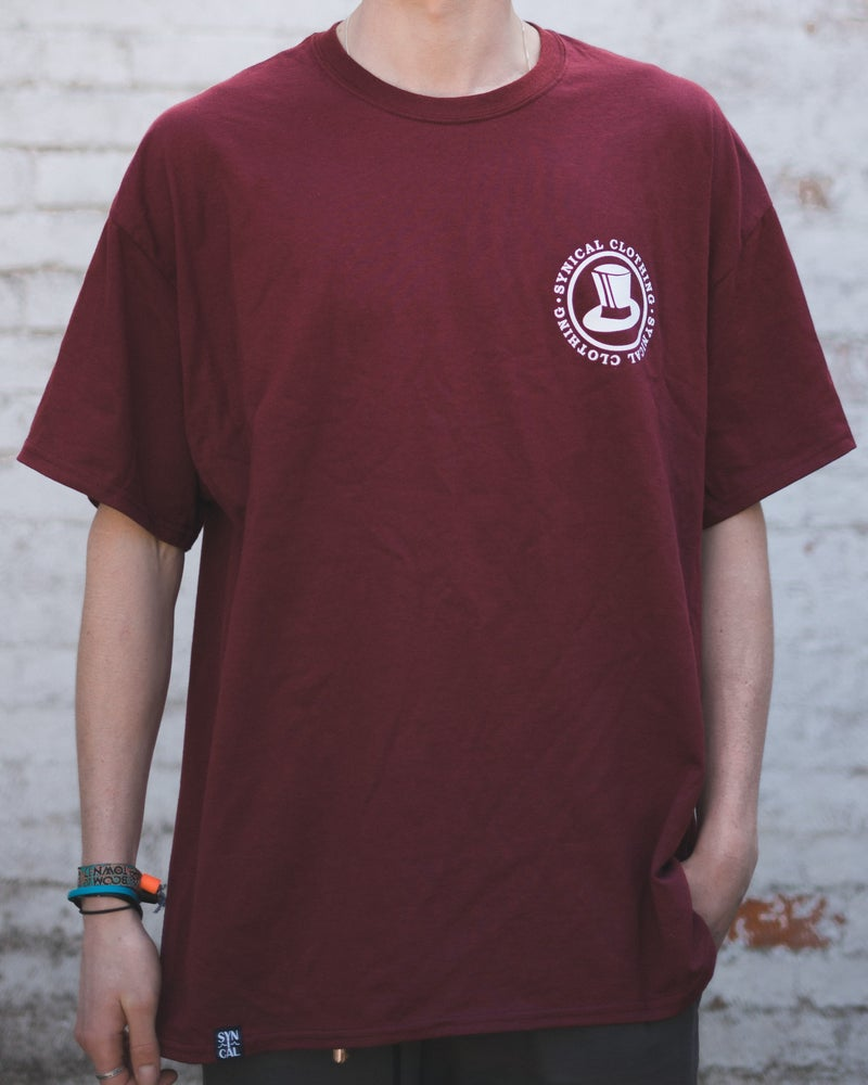 Image of Synical Stamp T-shirt - Maroon