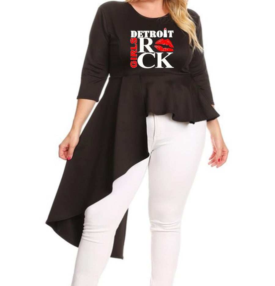 Image of Sassy Chick (Asymmetric Peplum Shirt)