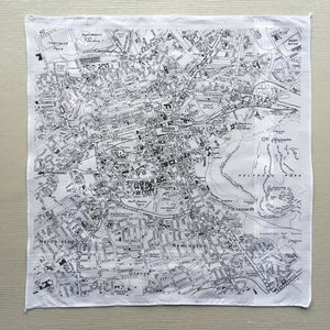 Image of Edinburgh City Map Hankie