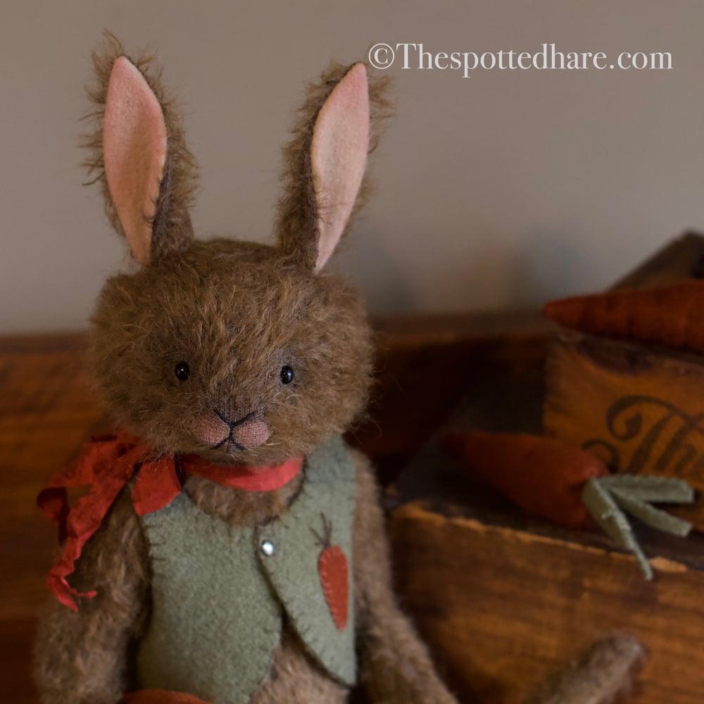 Image of Kit ~ A Jaunty Rabbit ~ Chocolate mohair