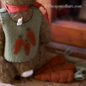 Image of Kit ~ A Jaunty Rabbit ~ Chocolate mohair
