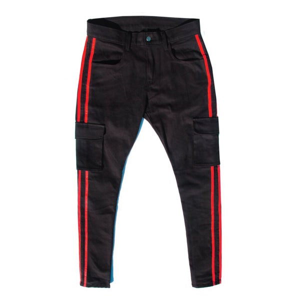 RED STRIPE CARGO PANT - Sean + Kelly